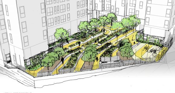 Landscape Architecture Perspective Drawings david baker architects: bayview hill gardens