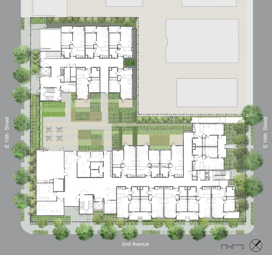 Are there any floor plans of the Courtyard Senior Apartments?
